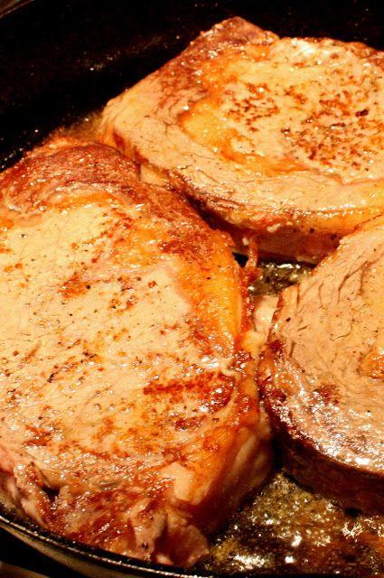 Perfect pan seared rib eye steaks | Recipes I tried and liked | Pinte ...
