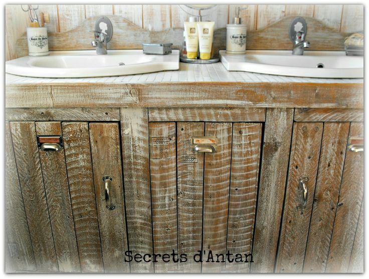 fabriquer meuble salle de bain palette found on carlalovecanalblog - Fabriquer Meuble Salle De Bain En Palette