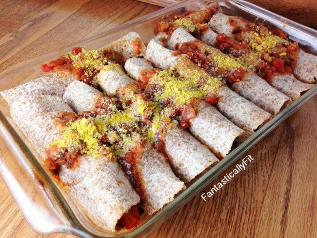 Sweet Potato & Black Bean Enchiladas | Just Scrumptious | Pinterest