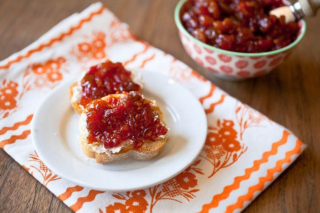 Spicy Tomato Chutney Toasts for my #gogourmet dinner party with ...