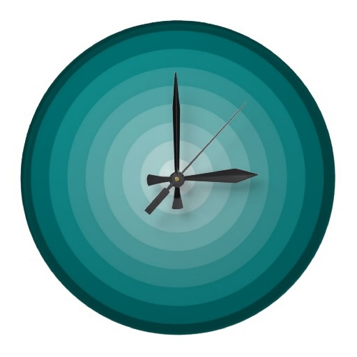 Turquoise target wall clock large for Large wall clocks target