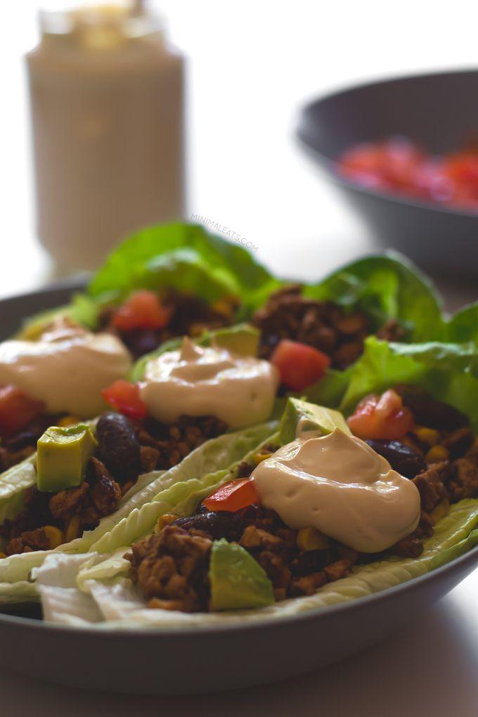 20 minute Vegan Taco Lettuce Wraps. #Vegan and #glutenfree-recipe ...
