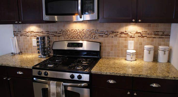 kitchen backsplash accent tile stripe kitchen pinterest