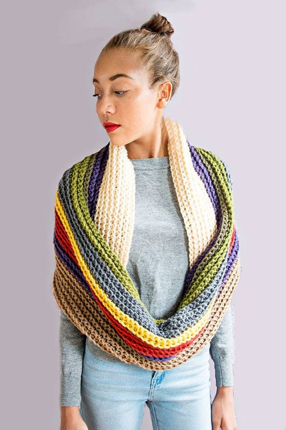 ... fallfashion #cozy #fashion #colorful #bright #shawl #scarf #oversized