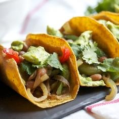 Vegan Seared Pepper Tacos With Pintos And Avocado Crema (via www ...