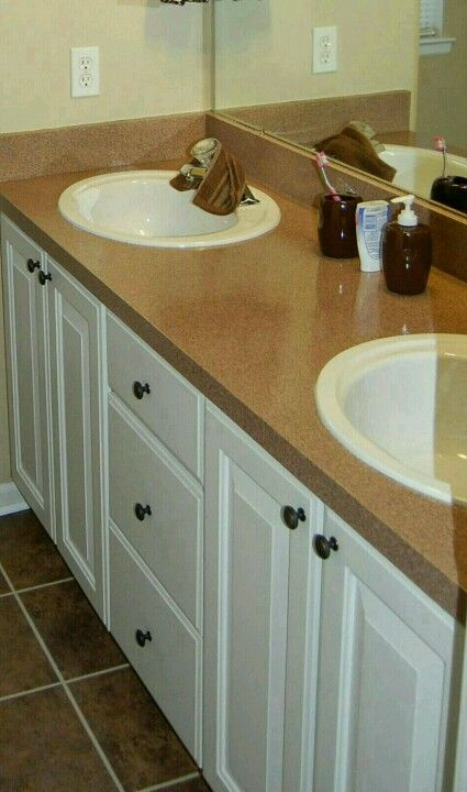 spray painted countertops home decorating bathroom