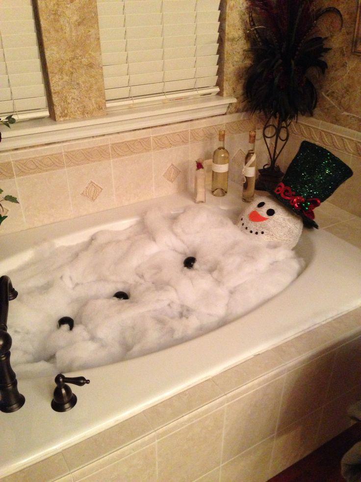 Snowman in the Bathtub! | Bekka's Creative Corner | Pinterest