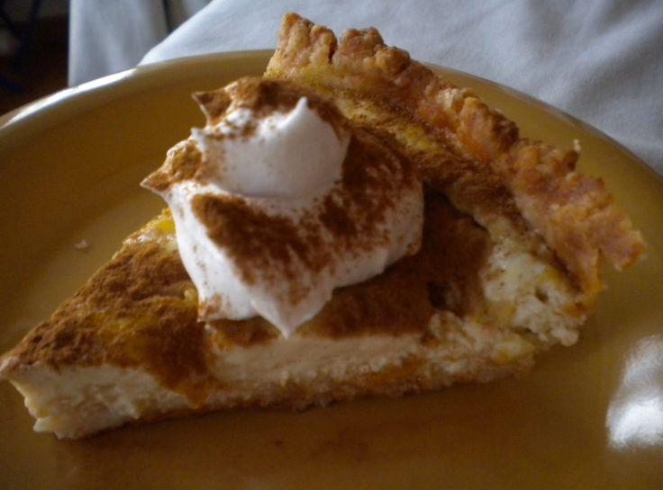 Warm Cider Pie...eggs, milk, cider, vanilla, sugar, cinnamon in pie ...