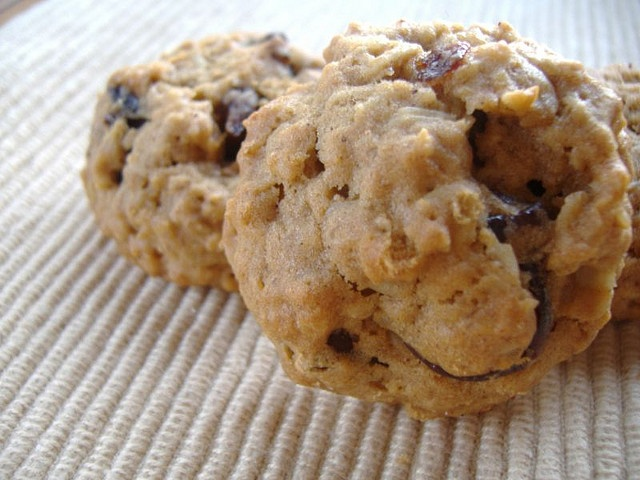 Chocolate Chunk and Dried Cherry Oatmeal Cookies
