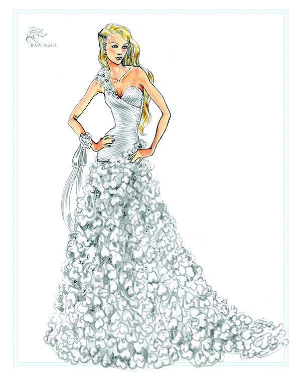 Barbie a fashion fairytale dresses sketches