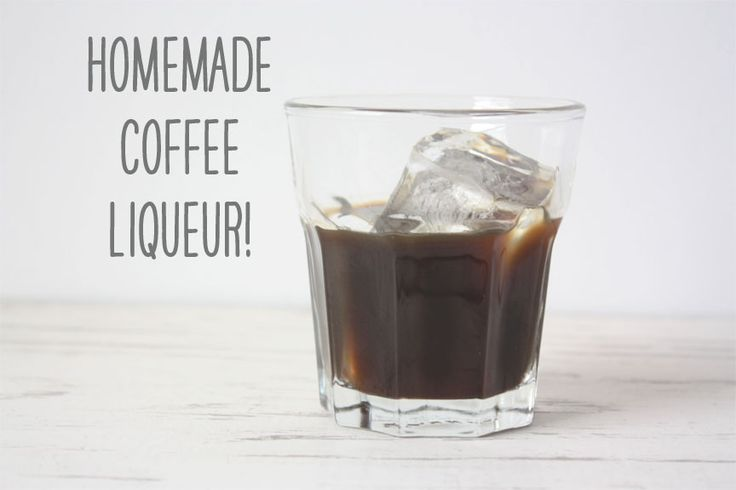 Homemade coffee liqueur (kahlua) from brewed coffee, not instant ...