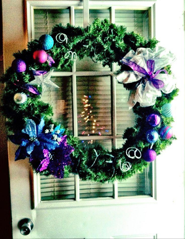 Christmas Wreath For Front Door Diy Festive Funs