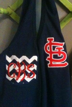 St Louis Cardinals monogram tank | Redbirds