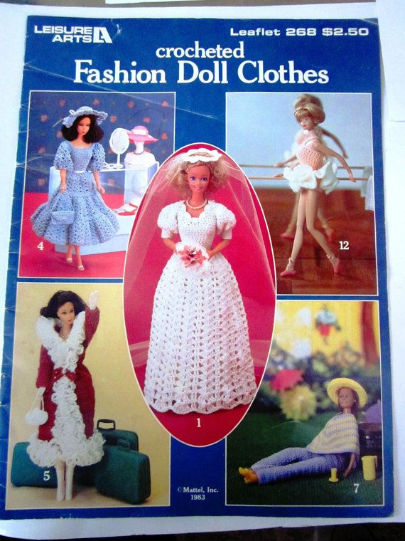 Leisure Arts Crocheted Barbie Clothes 268 by Denisecraft on Etsy, $4.00