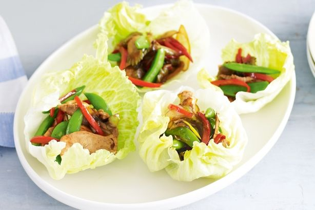 Chicken and sugar snap pea lettuce cups | Main meals | Pinterest