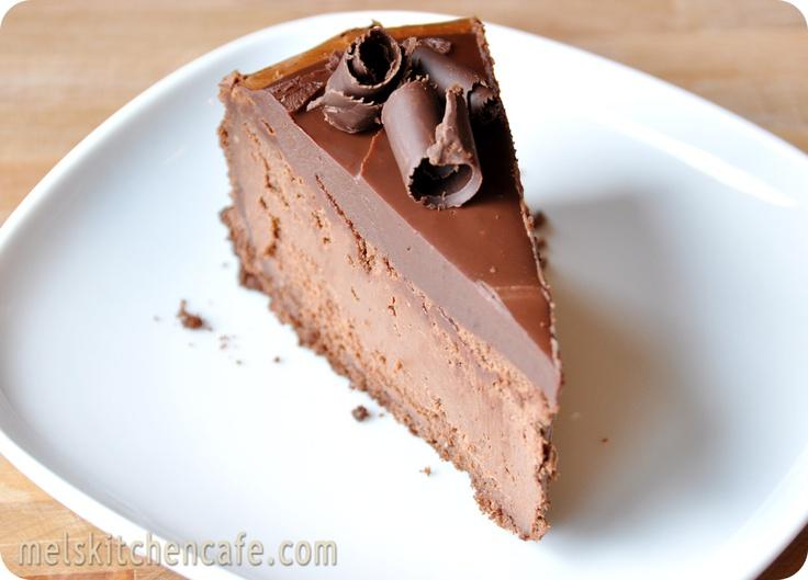Decadent Chocolate Cheesecake via : www.melskitchencafe.com