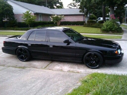Murdered out and lowered.. | Crown Vic | Pinterest