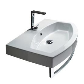 ... Losagna White Wall-Mount Bathroom Sink with Overflow $577.00 lowes