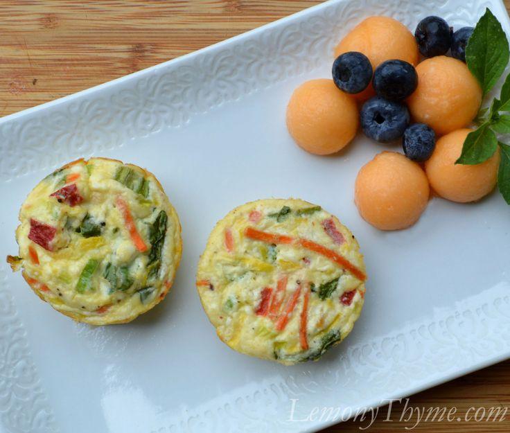 Feta & Vegetable Mini Frittatas- I used my own veggies and cheeses ...