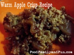 Warm Apple Crisp Recipe | Food | Pinterest