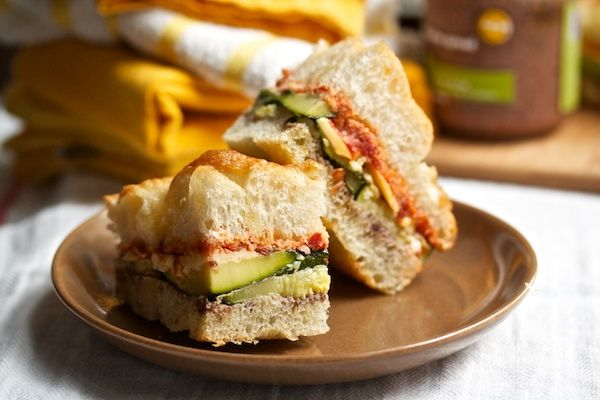 Sandwiches - with fontina, sundried tomato pesto, and tapenade
