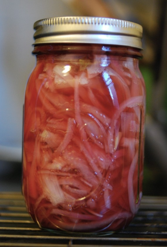 Pickled Red Onions- I want to get into pickling/canning