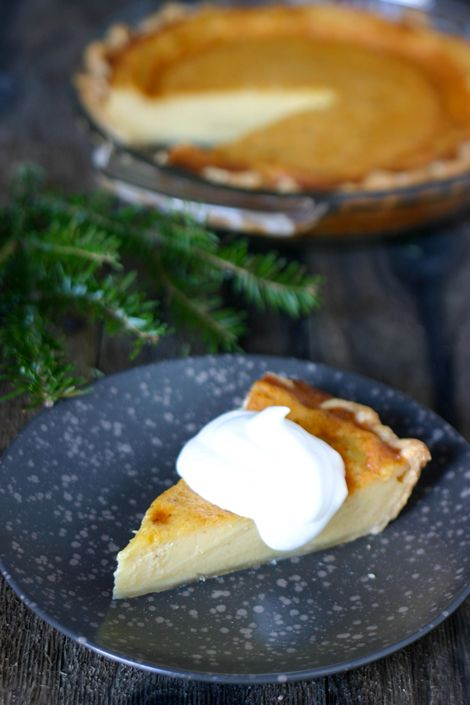 egg nog pie - kinda like Hoosier Pie