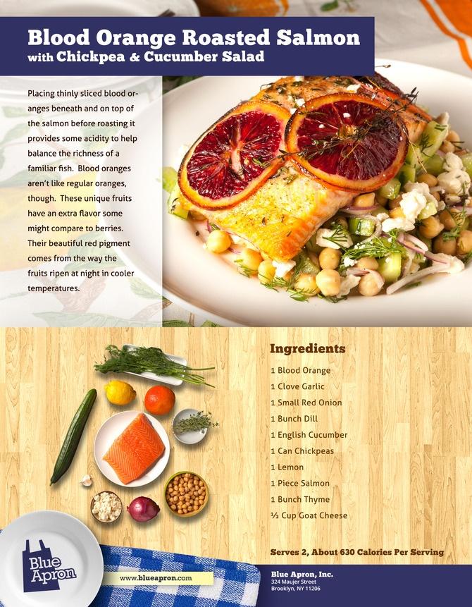 Blood Orange Roasted Salmon with Chickpea & Cucumber Salad | Recipe