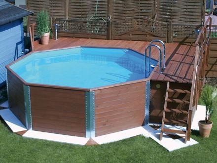 Base deck privacy wood panels landscape pool for Wood deck privacy panels