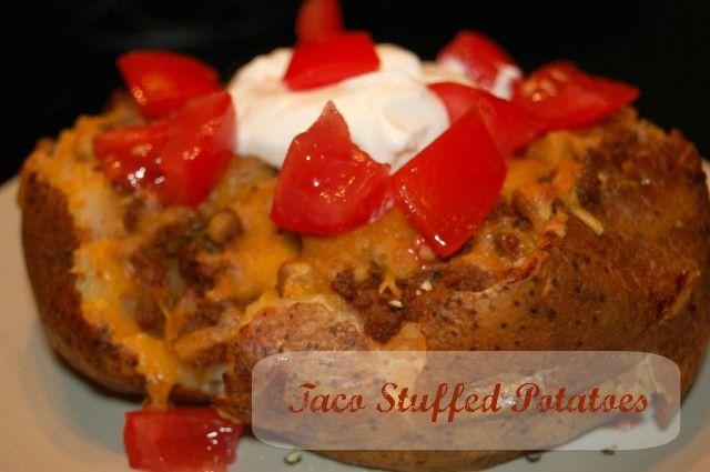 Leftover taco meat? Make taco stuffed potatoes