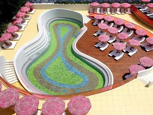 The pool at Semiramis, Athens, designed by Karim Rashid