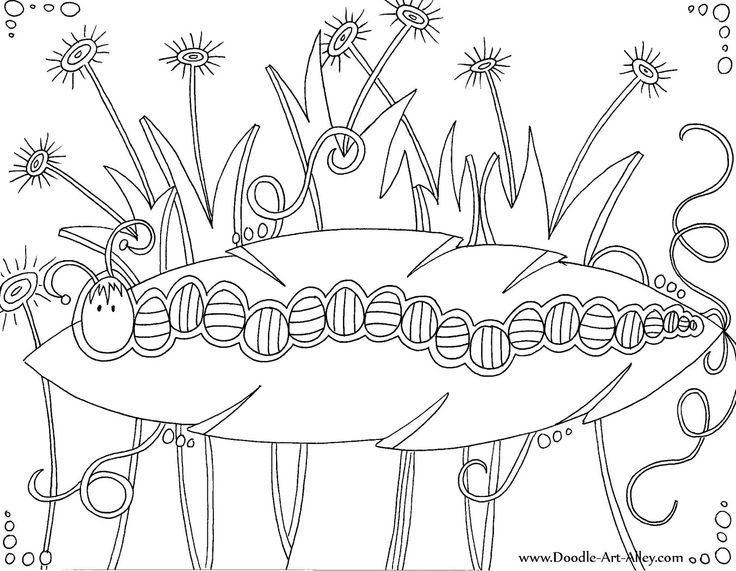Insect coloring pages doodle art alley printables for Doodle art alley free coloring pages