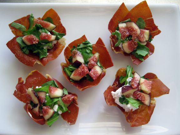 prosciutto cups | appetizer ideas | Pinterest
