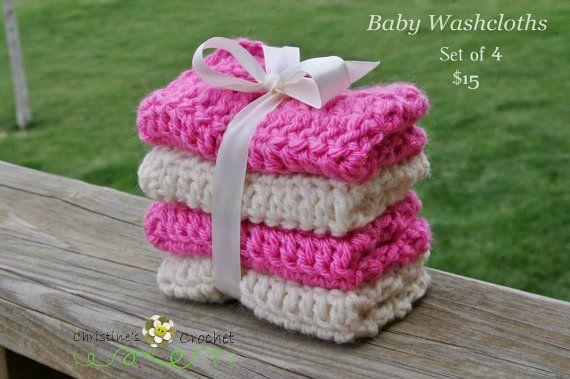 PATTERN Crochet Baby Washcloths
