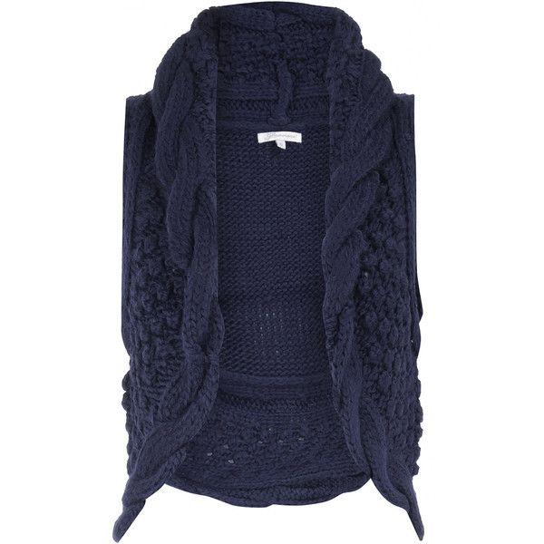 Knitting Pattern Womens Gilet : navy knitted gilet My Style Pinterest