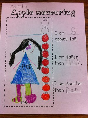 Cute apple measuring activity....great for centers!
