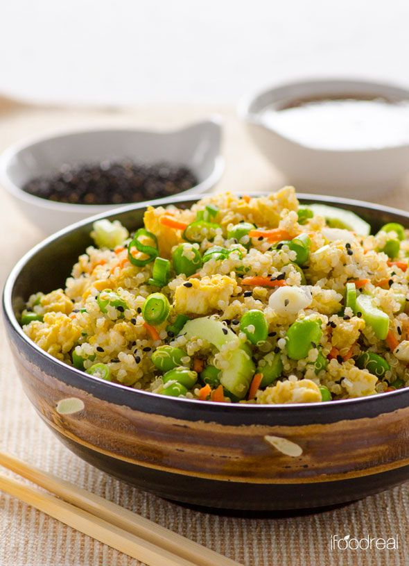 ... with edamame, cucumbers, scallions and Ginger Soy and Sesame dressing