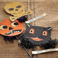 Retro Halloween Masks