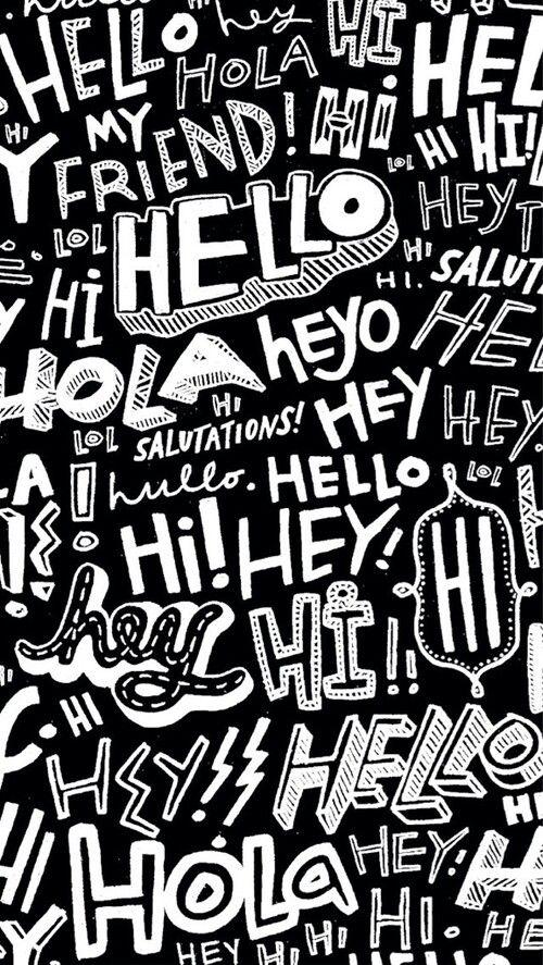 Typography Pattern Wallpaper Graphics Amp Prints Pinterest