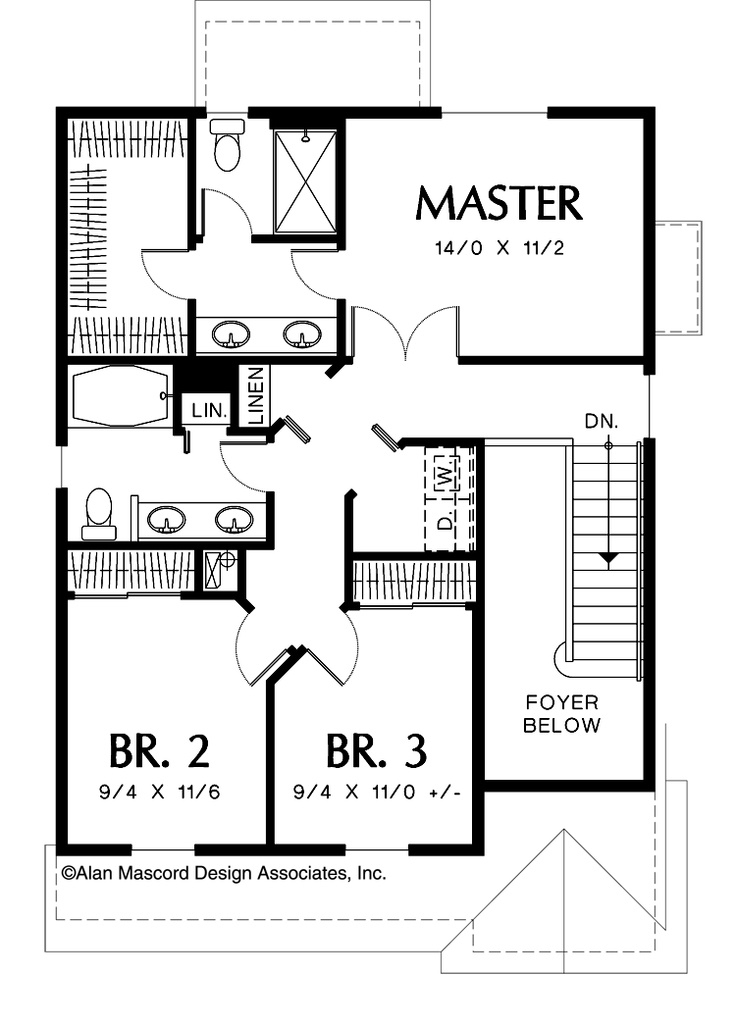 Mascord house plan 2174b House plans mascord