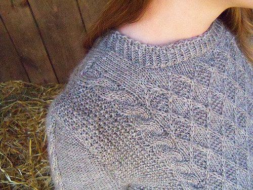 Knitting Pattern Gansey Sweater : Grand View Gansey Sweater Knitting Kit