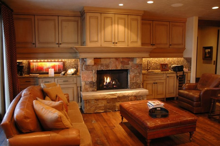 Gorgeous Rustic Stone Fireplace Tuscan Design