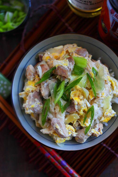 Oyakodon (Japanese Chicken and Egg Rice)   Rasa Malaysia