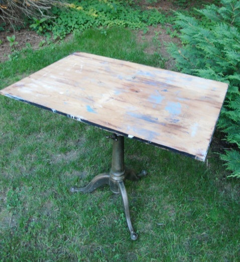 Antique industrial cast iron drafting table by plainandelegant 595