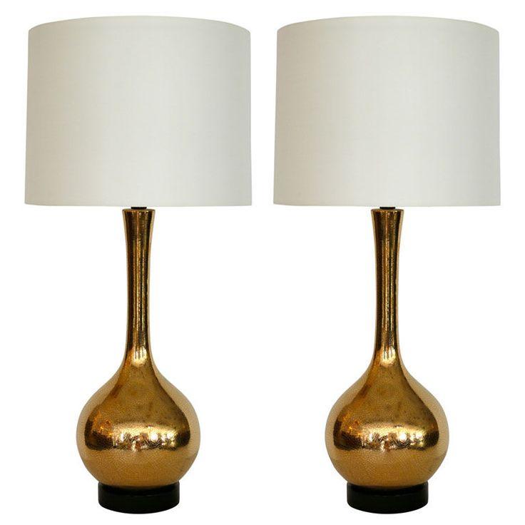 gold crackled mercury glass table lamps homie pinterest. Black Bedroom Furniture Sets. Home Design Ideas
