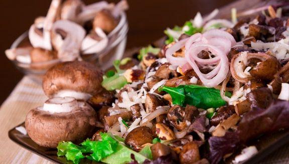 The Green Beet: Warm Mushroom #Salad with Hazelnuts & Pecorino (Hannah ...