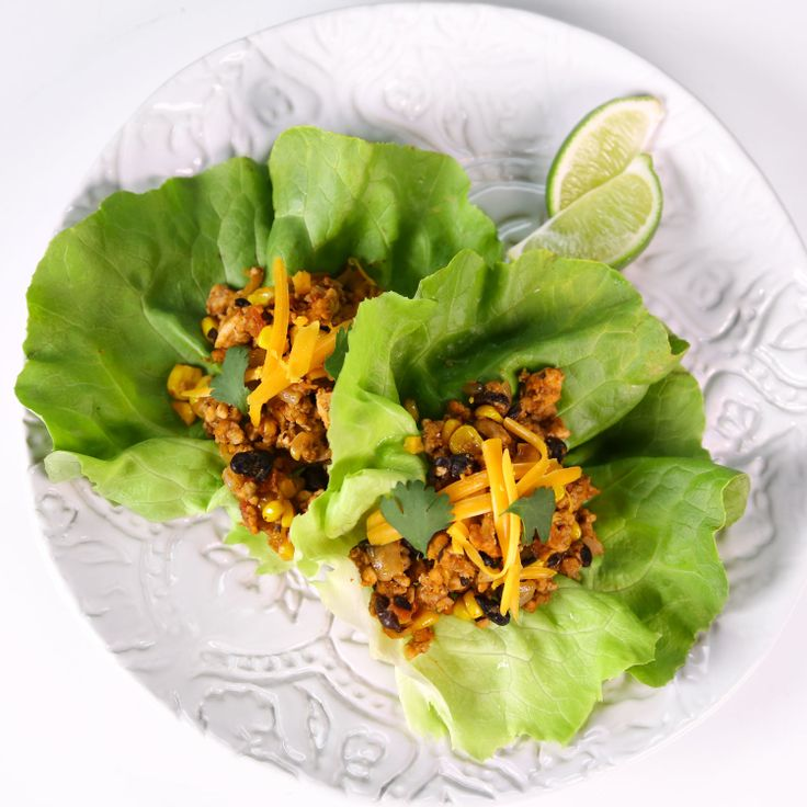Turkey Taco Lettuce Wrap from the Chew! Weight watchers friendly!