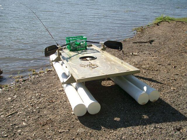 Плот для рыбалки из труб пвх