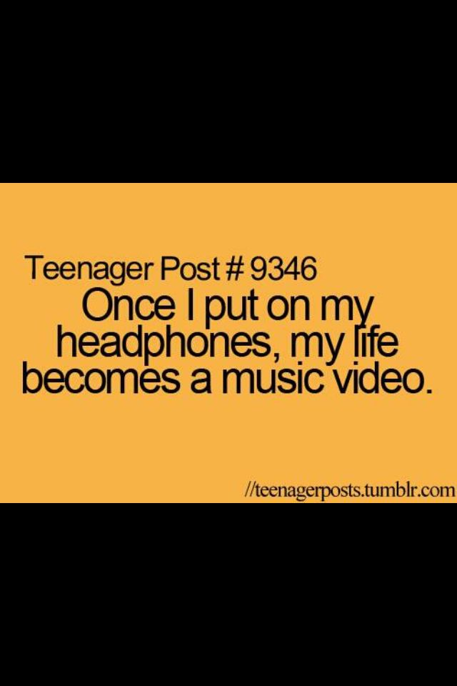 Quotes About Teenage Love From Songs : So true #funny #good #quote #music #teen #headphones