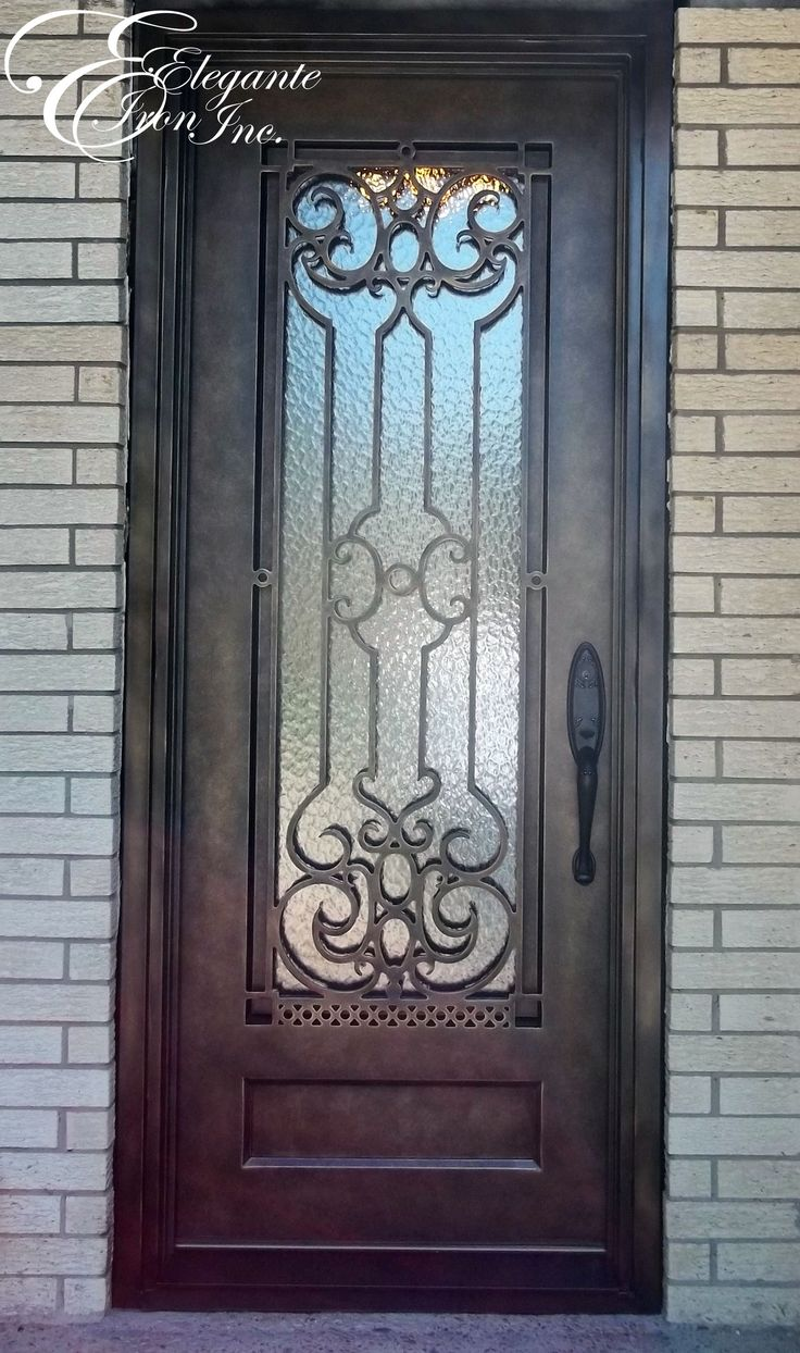 Single front doors joy studio design gallery best design for Wrought iron front doors